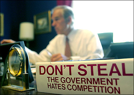 Ron Paul is known for his libertarian ideals.