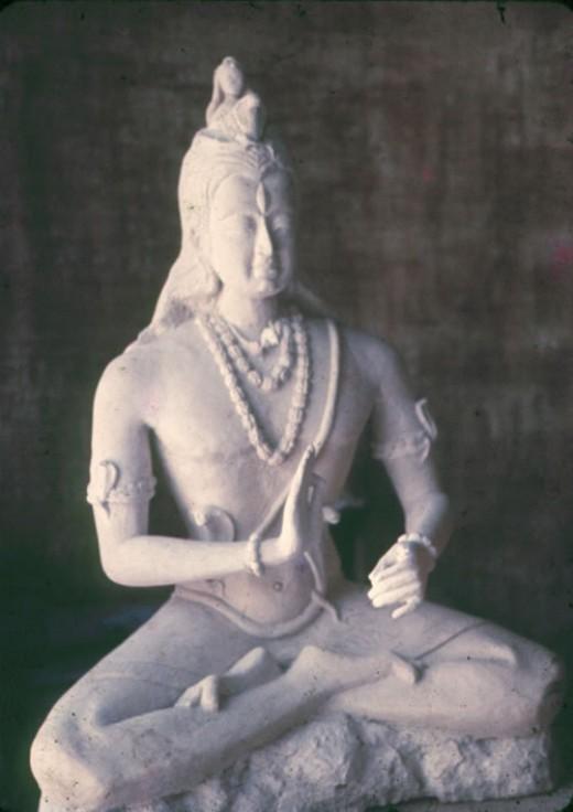 One of the many beautiful sculptures Johari created.