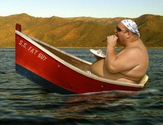 You do not want to be able to sink a boat due to your weight.