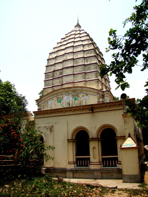 Main temple : side view