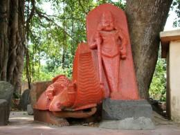 Stone idols of Ek Pada Bhairav & Makara