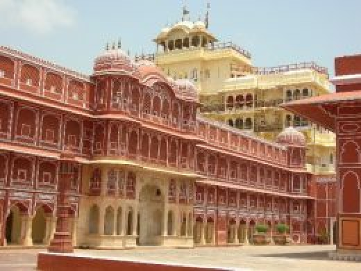 A Rajput Palace, Chandramahal in Jaipur, built by Kachwaha Rajputs