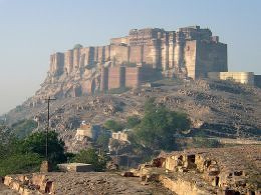 Mehrangarh Fort, belongs to Rathore rulers of Marwar in Rajasthan