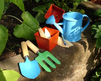 Kids will love colorful gardening tools