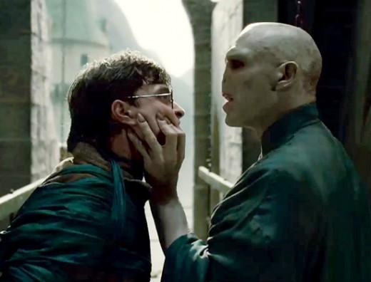 Harry confronts his nemesis, Voldemort.