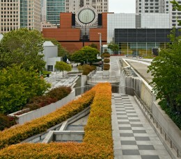 The SF MOMA from Yerba Buena Gardens