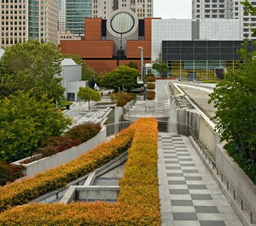 The SF MOMA from Yerba Buena Gardens