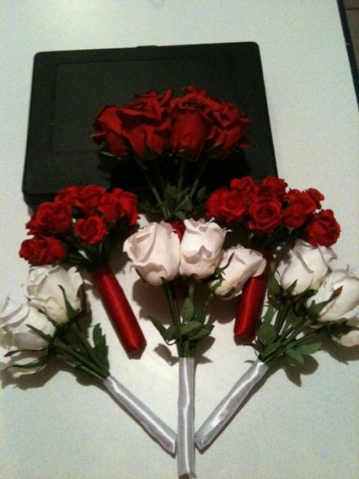 The finished product of my Bouquets.