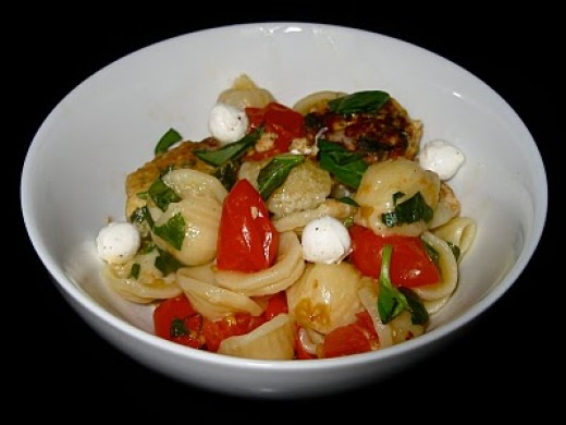 This is the delicious Orechiette salad!