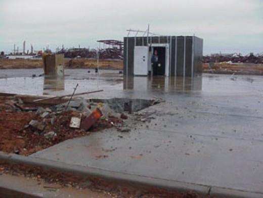 Safe Room Built Into Foundation