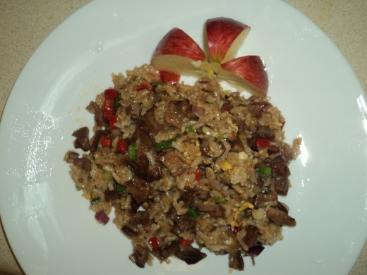 BBQ Pork Fried Rice with Apple Ready to Eat