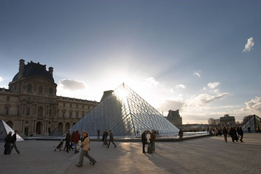 The famous Louvre in Paris, France.