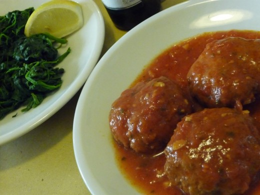 Meatballs with Spinach