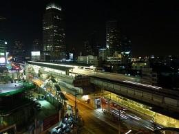 BTS Sky Train elevated tracks above Sukhumvit Road