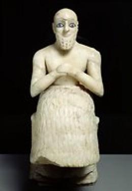 Tell Asmar Statue, c. 2700 B.C.E., Iraq Museum, Baghdad