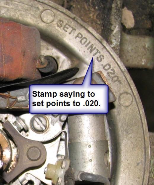 Stamp Showing .020 Gap