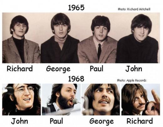 Beatles thru the years