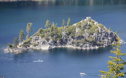 Fannette Island in Emerald Bay in Lake Tahoe