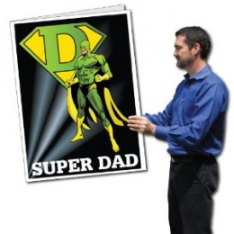 Oversize cards are sure to make an impression on Father's Day.
