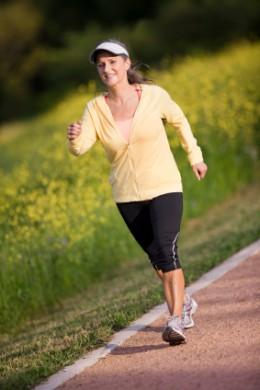 Woman Speed Walking