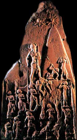 Victory Stele of Naram-Sin, 2254-2218 B.C.E., Louvre, Paris