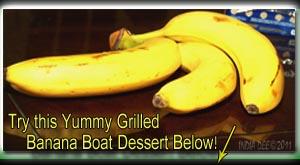 BBQ those ripe bananas!