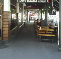 Lygon Street in Carlton is lined with cafes and restaurants