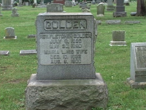 The grave of the Reverend Fletcher Golden, father of the founder of the very first, first Father's Day Celebration, and one half of the inspiration
