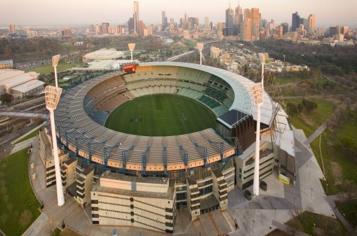 Ariel view of the Melbourne Cricket Ground (MCG)