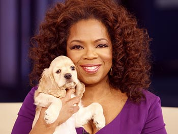 Oprah Winfrey declares puppies for everyone when she becomes president!