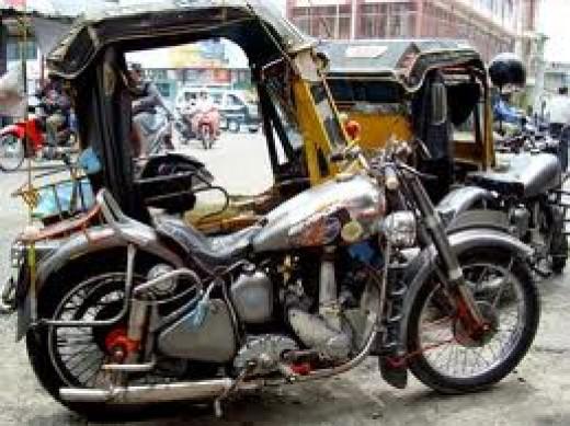 Machine pedicab in Siantar