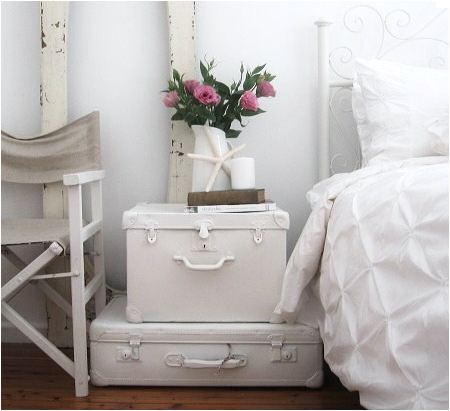 Suitcases In White.
