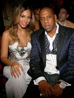 BEYONCE' AND HER HUSBAND, JAY-Z