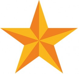 This star has rotational symmetry order 5.
