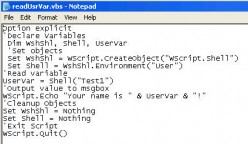 VBScript Environment Variables