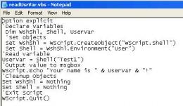 Environment Variable Code