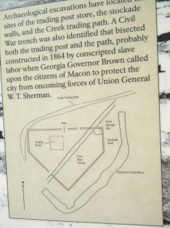 The Creek trading path bisected the Ocmulgee complex resulting in British trading post on the grounds.