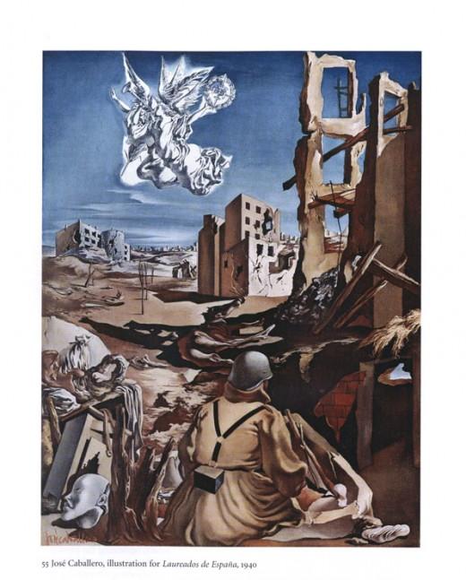 Jose Caballero - Illustration for Laureados de Espana, 1940