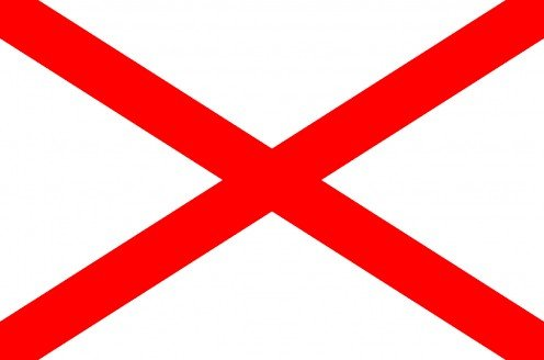 Flag used in the Police Service of Northern Ireland's logo