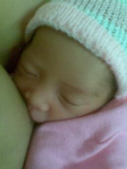 My baby Yna breastfeeding