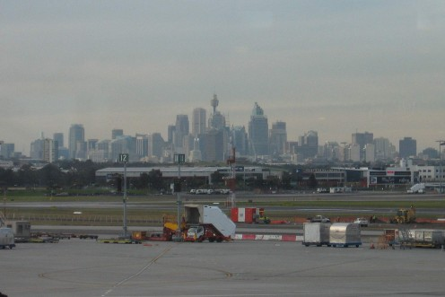 Our last view of Sydney before flying off on the next unknown adventure.