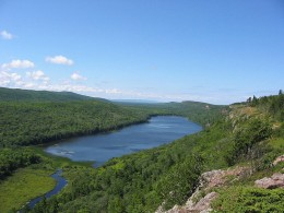 Lake of the Clouds, Porcupine Mountains Wilderness State Park, Michigan.