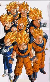 Super Saiyan (all canon characters who attained it)