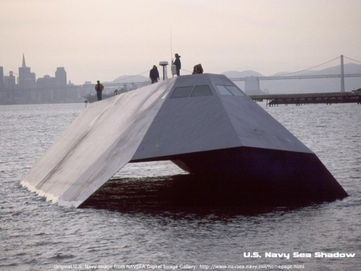 The stealth naval ship of the future.