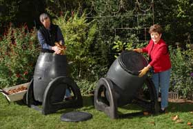Turning Compost Bin for fast composting