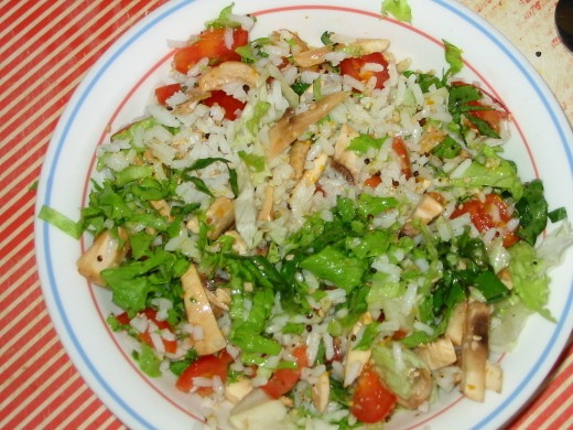 White Bismati Rice Salad