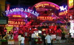 Pattaya and Patong in Phuket , the famous nightlife destination in Thailand