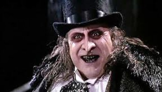 "Danny DeVito as The Penguin in ""Batman' film"