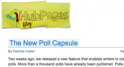 Fawntia's first blog post: The New Poll Capsule