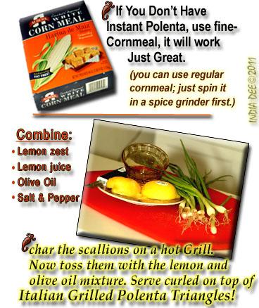 Grilled Italian Style Polenta Recipe pointers.
